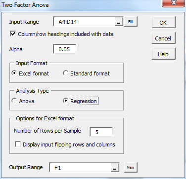 how to develop a regression model in excel