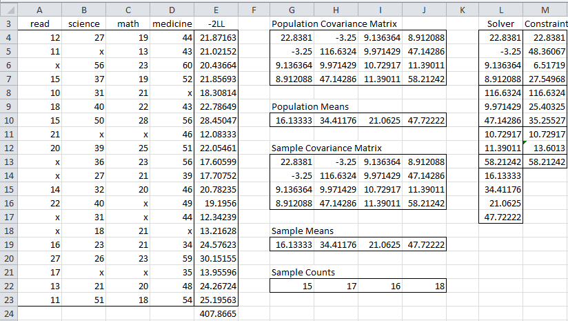 how to find sample covariance