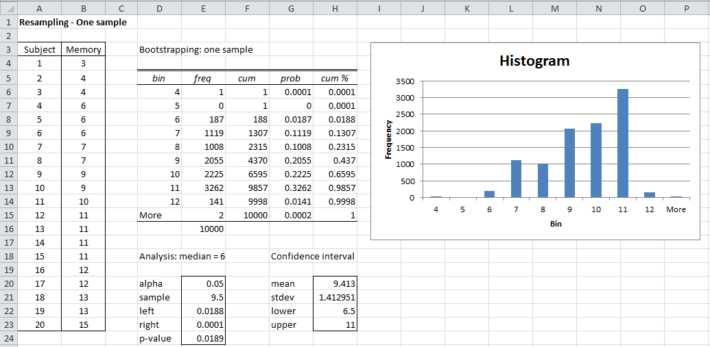 how to prepare data in excel for statistical analysis